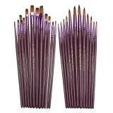 Top 10 2 Set 2X12 Buah Lukisan Datar And Tip Set Kuas Cat Air Minyak Rambut Artis Nilon Pena Gambar Internasional Online