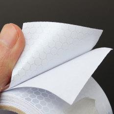 Promo 5 08 Cm X 10 Kaki 3 M Silver Putih Pita Peringatan Reflektif Stiker Film Konspirasi Oem Terbaru