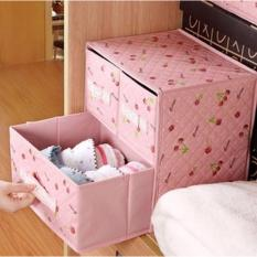 Review Toko 3 In 1 Drawer Laci Motif Bunga Storage Box Multifungsi Organizer 3 In 1 1 Set Online