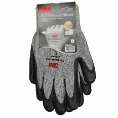 3 m tahan potong sarung tangan tingkat 5 (abu-abu) - L