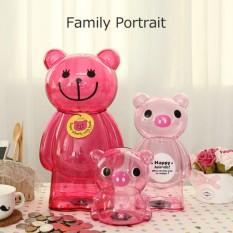 3 Pcs/lot Piggy Bank Uang Kotak Beruang Katak Plastik Koin Bank Kartun Moderen Uang