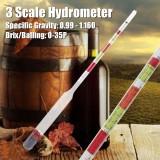 Spesifikasi 3 Skala Triple Hydrometer Transparan Untuk Bir Anggur Home Brewing Kerajinan Homebrew Intl Online
