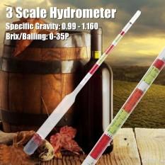 Beli 3 Skala Triple Hydrometer Transparan Untuk Bir Anggur Home Brewing Kerajinan Homebrew Intl Terbaru