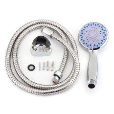 Cara Beli 3 Setting Bathroom Arm Water Shower Head Flexible Hose Wall Bracket Set Intl