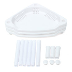 Jual 3 Lapis Plastik Sudut Rak Kabinet Dapur Organisator Unit Kamar Mandi Rak Penyimpanan Putih Ori
