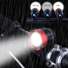 3000 Lumen XML T6 USB Interface LED Sepeda Lampu Sepeda Lampu Depan Lampu 3 Mode-Intl