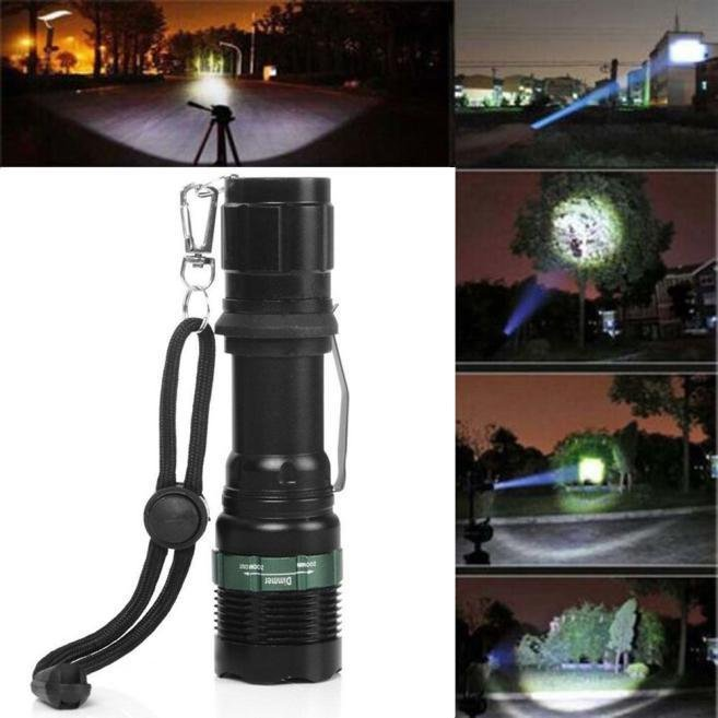 Harga 3000 Lumen Zoomable Cree Xm L Q5 Led Senter Obor Zoom Super Terang Branded
