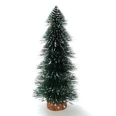 30 Cm Natal Mini Rumah Dekorasi Meja Kantor Ornamen Pohon Kecil Pine Green-Intl