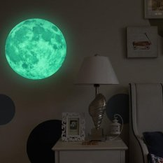 Harga 30 Cm Moon Glow In The Dark Removable Dinding Stiker Moonlight Home Decor Oem Ori