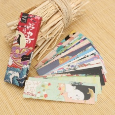 Review 30Pc Box Japanese Style Bookmark Book Mark Magazine Note Pad Label Memo Sch**l Intl