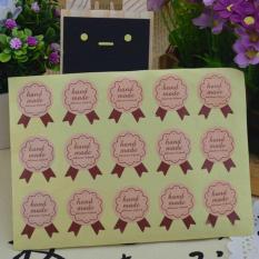 30 Pcs Stiker Buatan Tangan untuk Item Buatan Tangan Hadiah Stiker Bulat Label Kertas Kraft