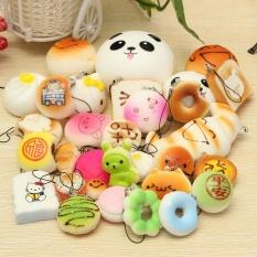 Toko 30 Pcs Jumbo Medium Mini Acak Licin Lembut Panda Roti Cake Buns Ponsel Tali Murah Di Hong Kong Sar Tiongkok