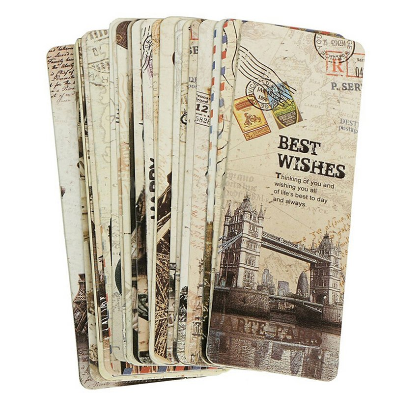 30 Pcs Paris Menara Eiffel Vintage Retro Buku Kertas Mark Bookmark Label Buku-Intl