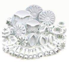 Dapatkan Segera 33Pcs Sugarcraft Cake Dekorasi Pemotong Alat Mould Intl