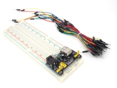 Promo 3 3 V 5 V Mb102 Breadboard Power Modul Mb 102 830 Poin Solderless Prototipe Papan Roti Kit 65 Kabel Jumper Fleksibel