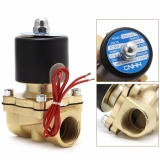 Promo 3 4 220 V Electric Solenoid Valve Pneumatic 2 Port Air Minyak Udara Gas 2 W 200 20 Di Hong Kong Sar Tiongkok