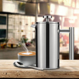 Harga 350 Pot Stainless Steel Pers Perancis Cafetiere Cangkir Kopi Dengan Teh Saring Isolasi Dinding Ganda Polandia Satu Set