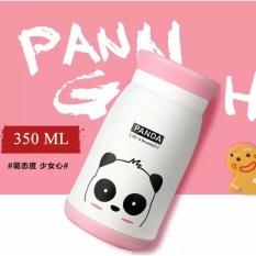 350 Ml Binatang Berwarna Desain Botol Air Panas Inox Thermal Isolasi Cangkir Kartun Vacuum Cup TRAVEL MUG Flask Hadiah Bagus untuk Anak-anak-Putih-Intl