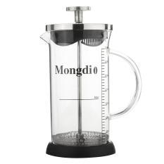 Harga 350 Ml Bahasa Perancis Tekan Tea Coffee Maker Cafetiere Bingkai Cangkir Kaca Tahan Panas Pot Off Putih Paling Murah