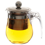 Penawaran Istimewa 350 Ml Panas Refused To Jelas Teko Stainless Steel Kaca Infuser Teh Pot Bunga Terbaru