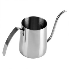 350ML Stainless Steel Pour Hand Coffee Drip Pot Long Gooseneck Spout Kettle - intl