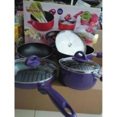 Harga 354 Supra Rosemary Cookware Supra Panci Set 7Pcs Red 354 Baru