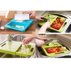 Beli 354 Talenan 2In1 Wastafel Tirisan Air Cuci Buah Sayur Alat Dapur Kitchen Set Telenan 2 In 1 Vegetable Cutter Washer Fruits Salad Cicilan
