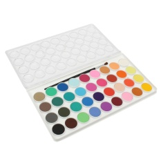 Tips Beli 36 Assorted Colors Solid Watercolor Cake Artist Painting Pigment Brush Box Set Intl