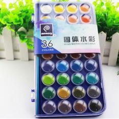 Toko 36 Warna Fundamental Air Warna Pan Set Tidak Beracun Artis Kue Cat Sikat Kit Intl Termurah Di Hong Kong Sar Tiongkok
