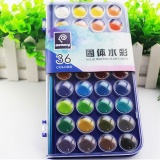 Jual 36 Warna Fundamental Air Warna Pan Set Tidak Beracun Artis Kue Cat Sikat Kit Intl Not Specified Asli
