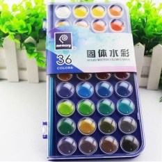 Top 10 36 Warna Fundamental Air Warna Pan Set Tidak Beracun Artis Kue Cat Sikat Kit Intl Online