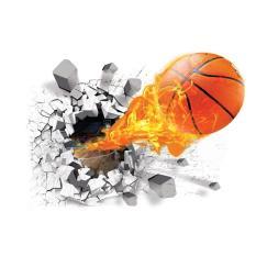 360DSC 3D Bola Basket Sticker Dekorasi DIY Removable Dinding Stiker Seni Dekorasi Stiker-Internasional