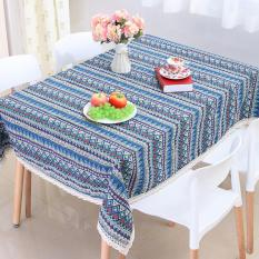 360DSC Cotton & Linen Bohemian Style Square Tablecloth Lace Tableware Desk Cover 120*120cm -