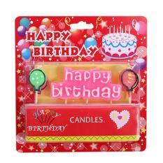 360DSC Perlindungan Lingkungan Tidak Berbahaya HAPPY BIRTHDAY Letter Lilin Balon Ulang Tahun Lilin-Type-1-Intl