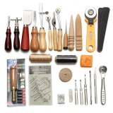 Ulasan Mengenai 37Pcs Leather Craft Tools Kit Hand Sewing Stitching Punch Carving Work Saddle Intl