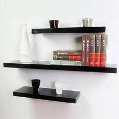 3Buah Rak Dinding Gantung Minimalis / Ambalan Floating Shelves / Bisa Utk Rak TV Buku Tanaman Bunga Pot Hiasan Dekorasi Pajangan Jam