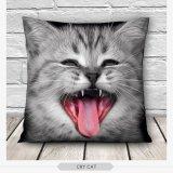 3D Cute Cat Throw Pillow Cases Home Decor Gift Grey Di Tiongkok