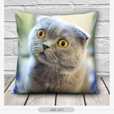 Jual 3D Cute Cat Kasus Bantal Kursi Sarung Bantaldekorasi Rumah Gift Grey Satu Set