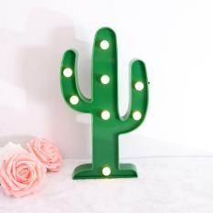 3D LED Cactus Lamp - Kaktus Lampu - Nightlight Romantic Night Light Table Lamp For Kids Room, Decorations, Gift, kado, Dekorasi Rumah, tumblr Tanaman Artificial Marquee