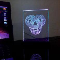 Jual 3D Led Light Illusion Infinite Circle Led Light Ori