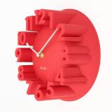 Katalog 3D Nomor Kubah Bulat Perhiasan Rumah Lonceng Jam Dinding Modern Dekorasi Seni Merah Terbaru