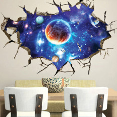 Harga 3D Luar Angkasa Galaxy Stiker Dinding Rumah Dekorasi Seni Mural Anak Stiker Dinding Yang Dapat Dilepas Yang Murah Dan Bagus