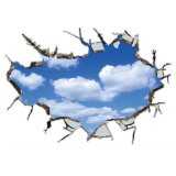 Diskon 3D Dekorasi Atap Removable Decal Home Decor Wall Sticker Wallpaper Langit