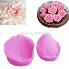 3D Kelopak Bunga Mawar Bentuk Fondant Cetakan Kue Dekorasi Gula-gula Cetakan Silikon Kue Kue