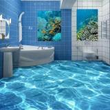 Obral 3D Berkilauan Waterwaterproof Lantai Wallpaper Mural Dinding Cetak Decal Wallpaper Untuk Kamar Mandi Internasional Murah