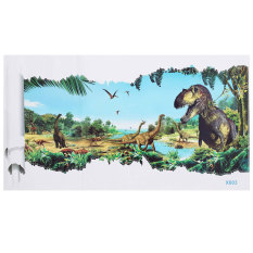 Toko 3D View Dinosaur Wall Sticker Kids Room Decor Jurassic Park Wall Decals Mural 3 Intl Not Specified Di Hong Kong Sar Tiongkok