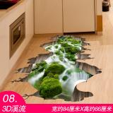 3D Wallpaper Dekorasi Rumah Stiker Dinding Lantai Kamar Mandi Stiker Kreatif Internasional Tiongkok