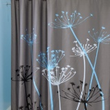 Jual 3D Waterproof Polyester Shower Curtain Dandelion Pola With 12 Kait Plastik