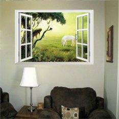 Toko Mimosifolia 3D Wall Stiker Wallpaper Windows Pantai Pvc Seni Dekorasi Rumah Lukisan Kertas Dinding Bandung Photo Dewasa 48X68 Di Hong Kong Sar Tiongkok