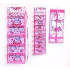 3in1 Rak Gantung (TAS,SEPATU,JILBAB) HELLO KITTY Pink FULL SLETING
